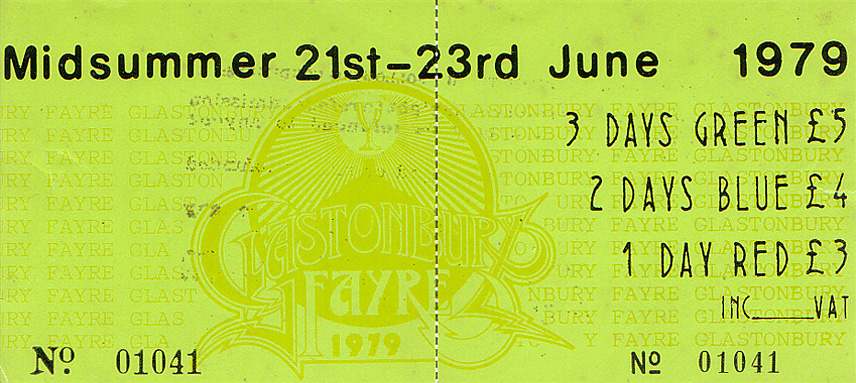 Ticket Glasto 1979