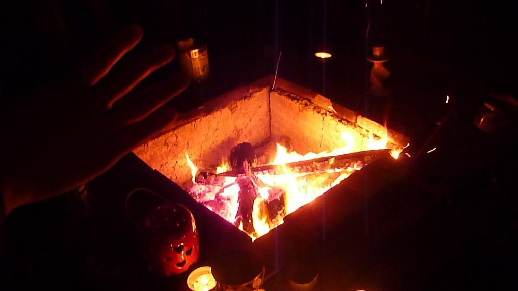 Le feu...