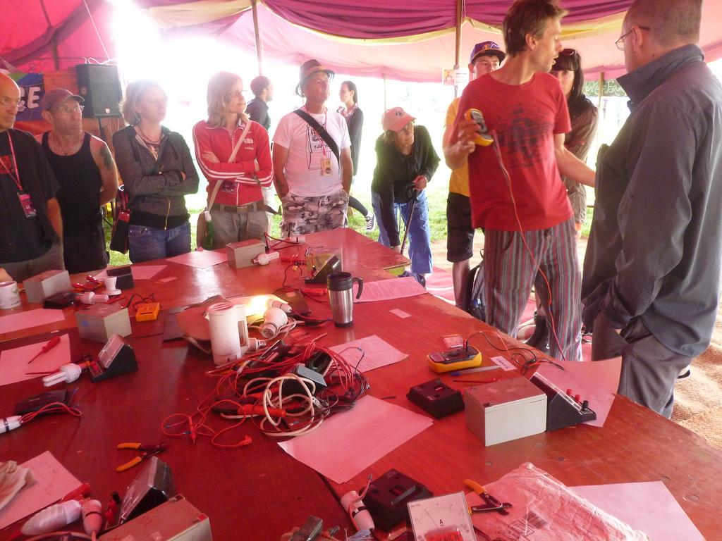 Travaux pratiques d'électricité au PV Solar Electrical Workshop