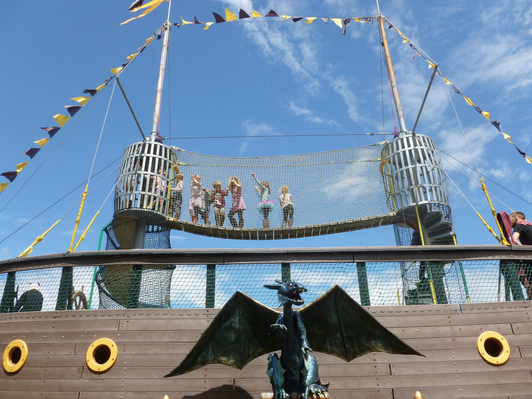 Le bateau pirate dans Green Kids.