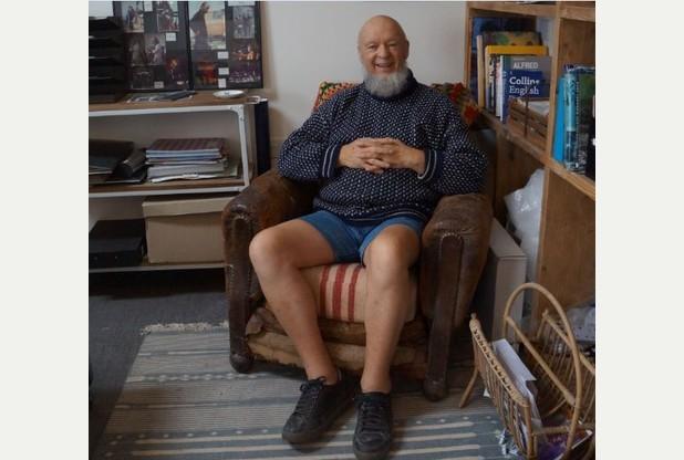 Michael Eavis dans les bureaux du festival (photo Hannah Finch)
