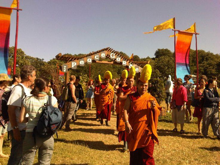 Cérémonie bouddhiste au Peace Garden en 2013