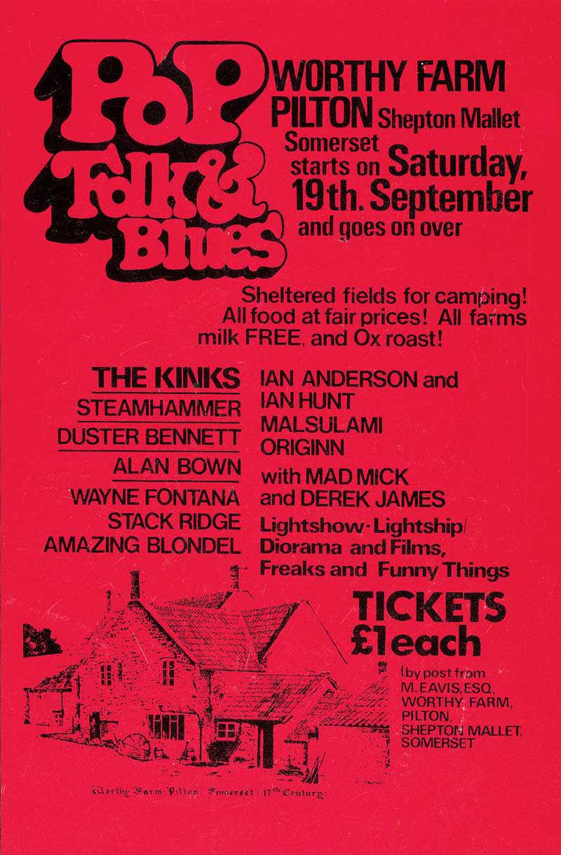 Affiche festival de Glastonbury 1970