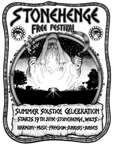 affiche festival de Stonehenge 1975