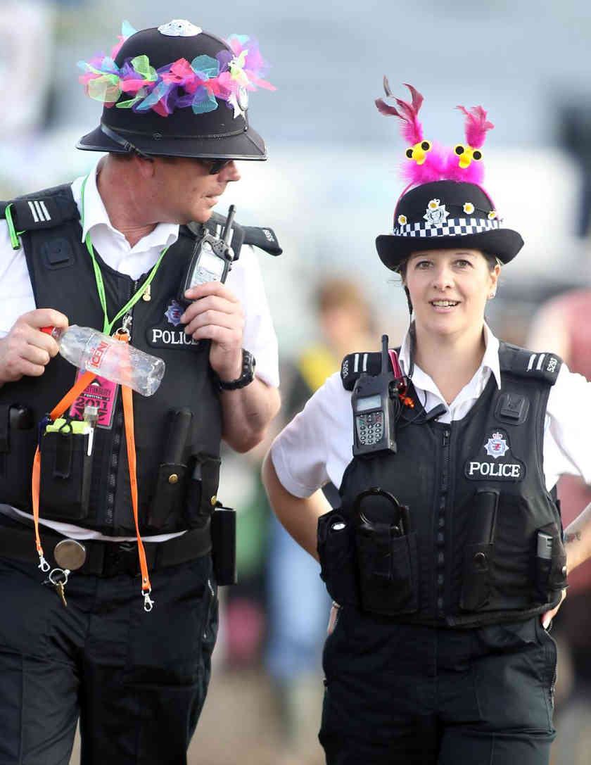 Police à Glastonbury