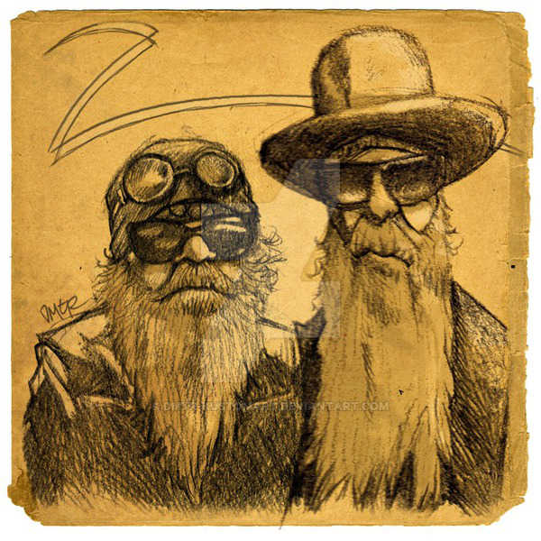 Caricature ZZ Top