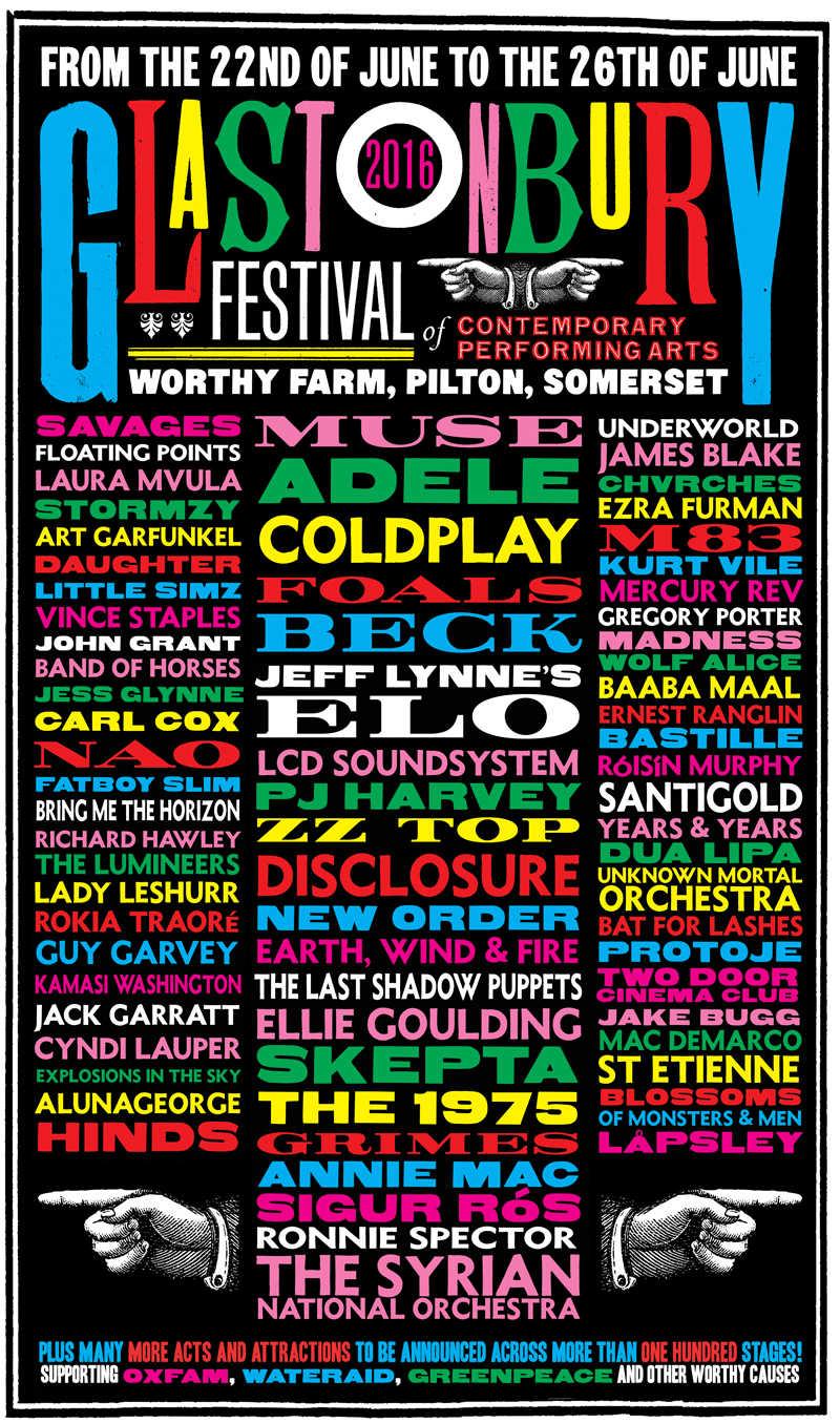 Affiche Glastonbury 2016