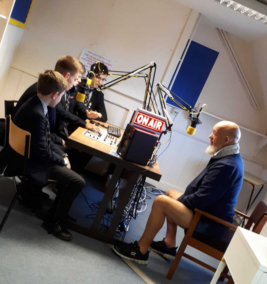 Michael Eavis Sommerset's Warminster school radio