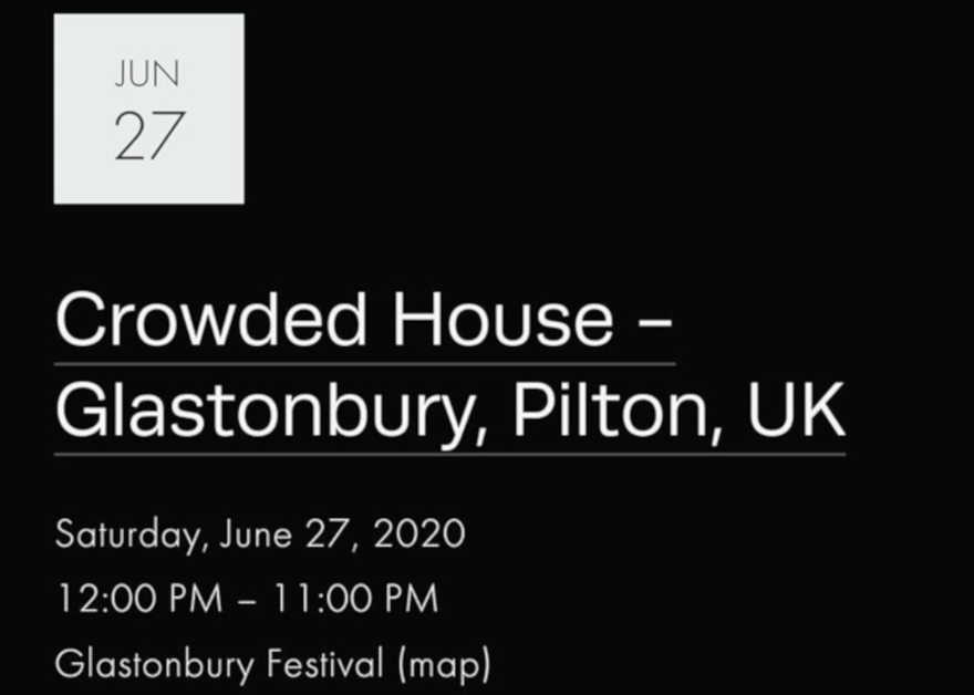 Crowded House Glastonbury 2020