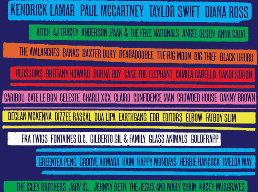 L'affiche Glastonbury 2020